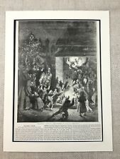 Victorian Christmas Childrens Party Fairy Tale Genuine Antique Print