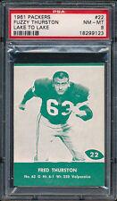 1961 Lake to Lake Packers #22 Fred Thurston PSA 8 (FB01)