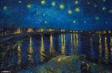 VINCENT VAN GOGH ~ STARRY NIGHT OVER THE RHONE 22x34 FINE ART POSTER Masterpiece