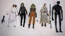 Star Wars Black Series Lot of 5 figures Princess Leia Rey Hera K2