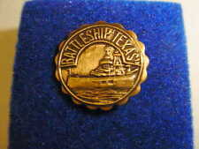 Vintage Battleship Texas lapel pin