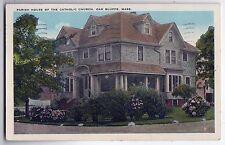 1942 OAK BLUFFS Martha's Vineyard PC Postcard MARTHAS Catholic Church House MV