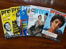 Prevue Digest Pocket Magazine Lot of 5 - 1953, 1955 Cheesecake Pin Up Liz Taylor