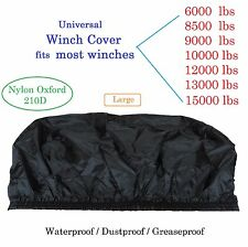 Winch Cover 6000 8000 9500 12000 13000 Black Large Waterproof Soft light weight