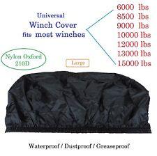 La copertura del verricello 6000 8000 9500 12000 13000 Nero Grande Impermeabile Morbido Leggero