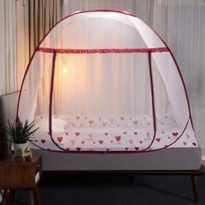 Folding Mosquito Net Canopy With Bracket Bed Tent for Adult Girls Room Decorate