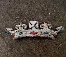 Cast Iron Painted Crown Coronet Pub Sign, Gate, Final Antique