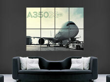 AIRBUS 350 AEROPLANE JET POSTER  HUGE LARGE WALL ART
