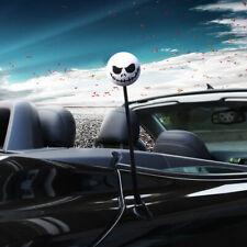 1x Halloween Skull Car Antenna Ball Topper Aerial Ball Decor Toy White Universal