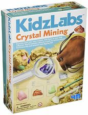 Crystal Mining Rocks and Mineral Science Educational Kit For Children By 4M NEW