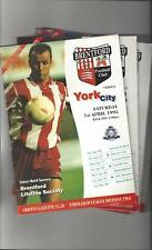 17 Brentford Football Programmes 1994/95 All Single Items