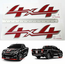 4x4 SILVER RED GREY STICKER DECAL FOR ISUZU D-MAX DMAX 2016 - 2017 PICKUP UTE 16