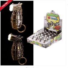 Novelty Grenade Gun LED Keyring With On/Off Trigger
