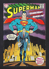 SUPERMAN #201  FINE- 5.5!  SWEET COVER!  1967