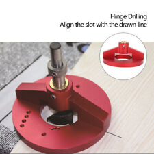 35mm Vertical Drill Guide Bit Doweling Jig Woodworking Hole Punch Locator Tool
