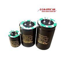 Condensatore Mundorf 63V MLytic AG 4700uF 20%  audio crossover cap audiophile