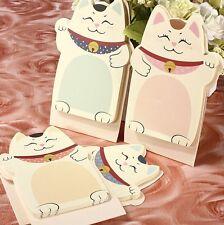 Fortunate Lucky Cat Beckoning Maneki Neko Memo Bookmark Sticky Notes x1 g