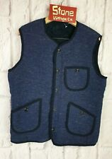 Levis Made Crafted Blue Black Fur Reversible Bodywarmer Traveller Vest £195 S