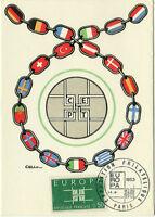 CARTE MAXIMUM 1er JOUR - EUROPA 1963 N° 1397 - PARIS