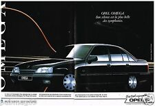 Publicité Advertising 1989 (2 pages) Opel Omega