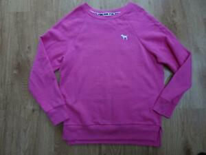 VICTORIAS SECRET PINK ladies pink print sweatshirt jumper SIZE XS UK 8