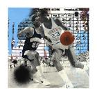 "Marly Mcfly Drive Michael Jordan Print 18""x18"" Signed Numbered xx/82 1XRUN COA"