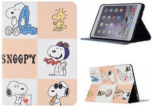 For iPad Pro 9.7 - iPad 9.7 - iPad Air 1-2 Snoopy Cartoon Anime New Case Cover