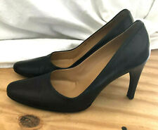 Bally Sirena Black Leather Pumps Size 39/ 8.5 Made In Italy