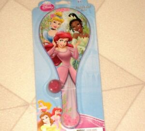 Disney Princess Paddle Ball Hand Held Toy Ariel Cinderella Tiana New
