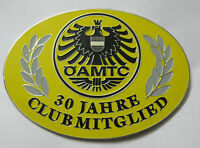 Adac 30 Jahre club mitglied Car grill badge emblem logos metal enamled car badge
