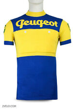 PEUGEOT BP blue / yellow vintage wool jersey, new, never worn L