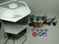 13 Lot Of Figures Disney Infinity Avengers Cars Monsters Inc with shelf Lot 2