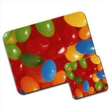 Tasty Jelly Beans Sweets Candy Mouse Mat / Pad & Coaster