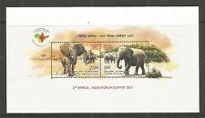 INDIA 2011 2ND AFRICA-INDIAN SUMMIT MINISHEET SG,MS2818 UM/M NH LOT 9148A