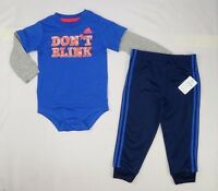 adidas baby boys set,  bodyshirt and jogger set sizes 3, 9,18, 24 months