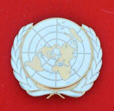 United Nations. United Nations Peace Keepers Genuine Cap Badge