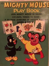Vintage childrens Wonder Books Mighty Mouse Play Book 1954 #2502