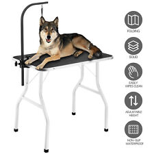 """36"""" Portable Large Adjustable Pet Dog Cat Grooming Foldable Table w/Arm & Noose"""