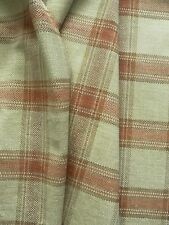 Zoffany Curtain / Upholstery Fabric MINERAL PLAID 3.0m Terracotta/Ivory 300cm