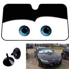 Black Eye Cartoon Car Windshield Window Aluminum Foil Sunshade Sun Visor Anti-UV