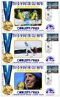 CHARLOTTE KALLA 2010 OLYMPIC SET OF GOLD MEDAL COVERS