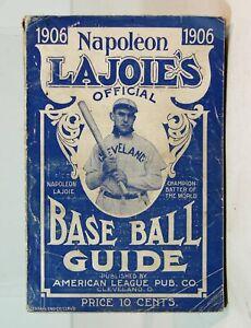 1906 NAP LAJOIE OFFICIAL MAJOR & MINOR LEAGUE BASEBALL GUIDE BOOK RARE ORIGINAL