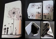 Iphone 5c Case / White dandelion wallet case / **Have types for all iphones**
