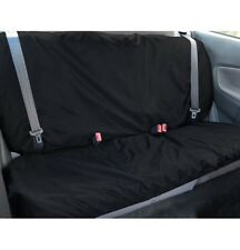 BLACK 2 PCE WATER RESISTANT REAR CAR SEAT PROTECTOR COVER FOR BASE/BACK OF SEATS