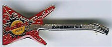 Hard Rock Cafe KUALA LUMPUR 1990s Red EXPLORER GUITAR PIN - HRC #4215