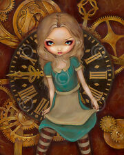 ART PRINT - Alice and Clockworks by Jasmine Becket-Griffith 14x11 Gothic Poster