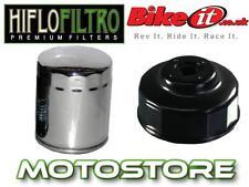Cromo Filtro de aceite y herramienta de eliminación de Harley Davidson Flstf Fat Boy Efi 2003-2013