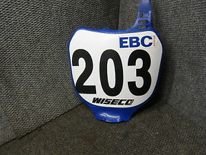 YAMAHA FRONT NUMBER PLATE 2000-2004 YZ125 YZ 125 250 F YZ250F MX 5HD RACE OEM