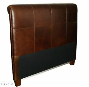 Beautiful Queen Size Genuine Leather Headboard for Bed, NEW!
