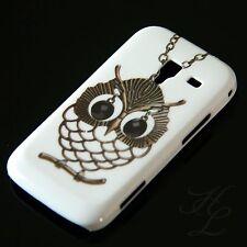 Samsung Galaxy ACE 2 / i8160 Hard Handy Case Schutz Hülle Etui Kette Eule Owl
